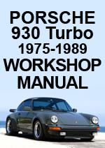 Porsche 930 Turbo Workshop Manual